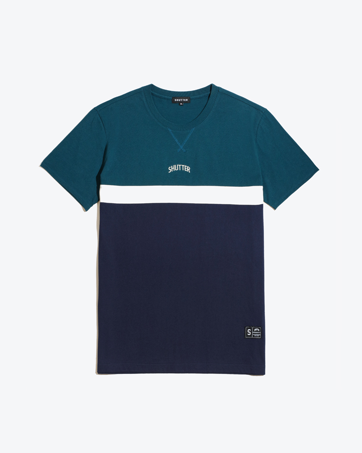 [셔터] COLOR COTTON 1/2 티셔츠 (GREEN)