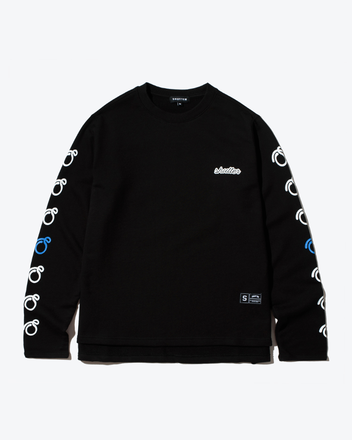 [셔터] ARTWORK LONG SLEEVE 티셔츠 (BLACK)